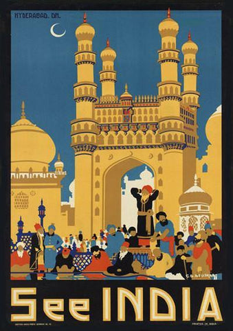 INDIA TRAVEL POSTER: Vintage Raj Advert - The Print Arcade
