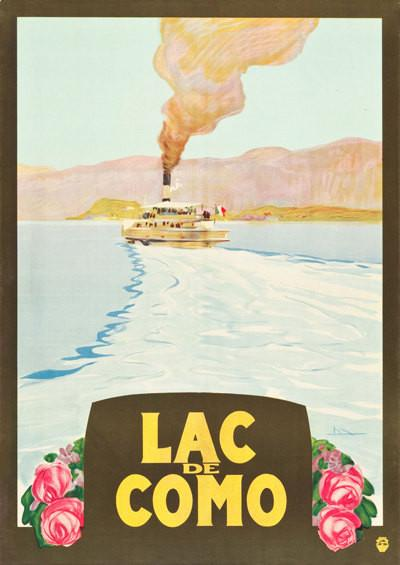 LAKE COMO POSTER: Vintage Travel Advert Art Print - The Print Arcade