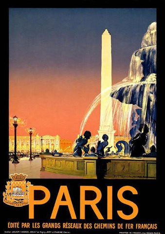 PARIS TRAVEL POSTER: Vintage French Advert Print - The Print Arcade