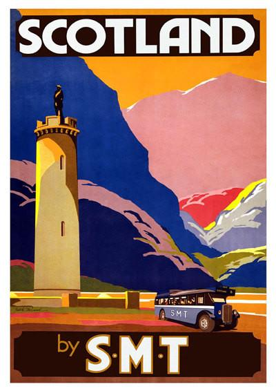 SCOTLAND TRAVEL POSTER: Vintage Rail Advert - The Print Arcade