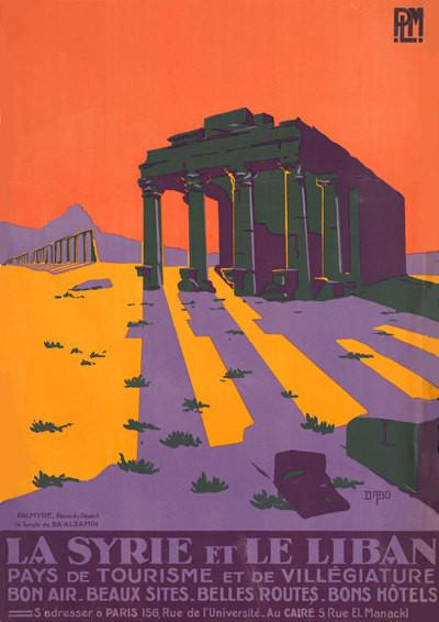 SYRIA TRAVEL POSTER: Vintage Temple Advert Print - The Print Arcade