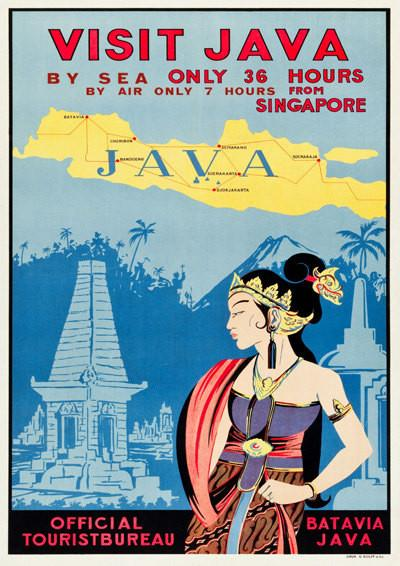 JAVA TRAVEL POSTER: Vintage Indonesian Advert Art Print - The Print Arcade