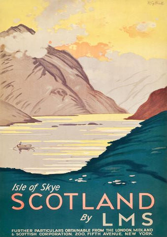 SCOTLAND LAKE POSTER: Vintage Highlands Advert Print - The Print Arcade