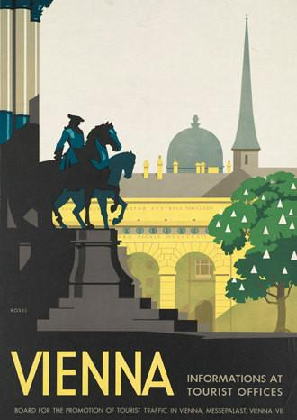VIENNA TRAVEL POSTER: Vintage Austria Advert Print - The Print Arcade