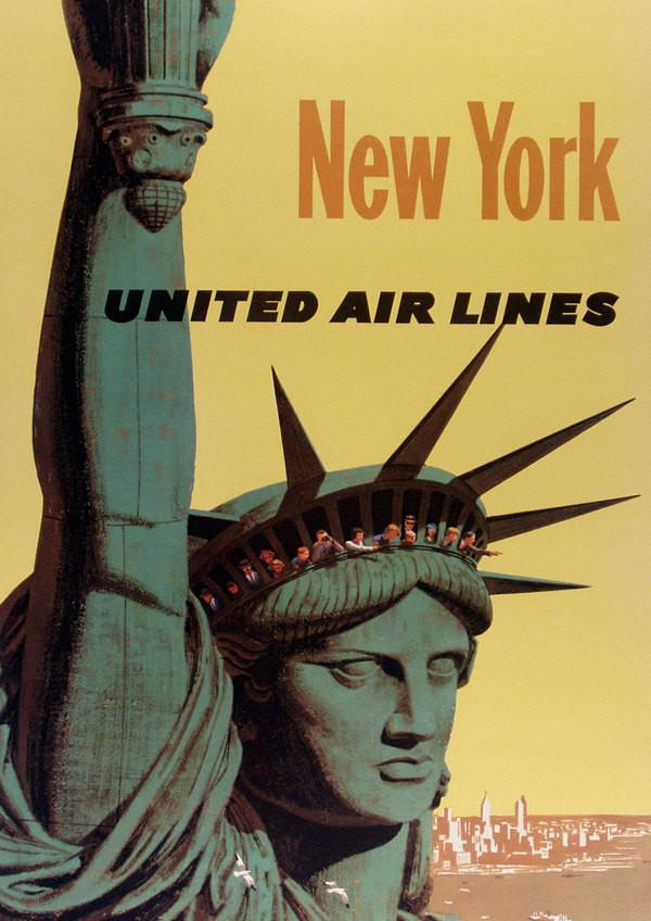 NEW YORK POSTER: Vintage Statue of Liberty Print - The Print Arcade