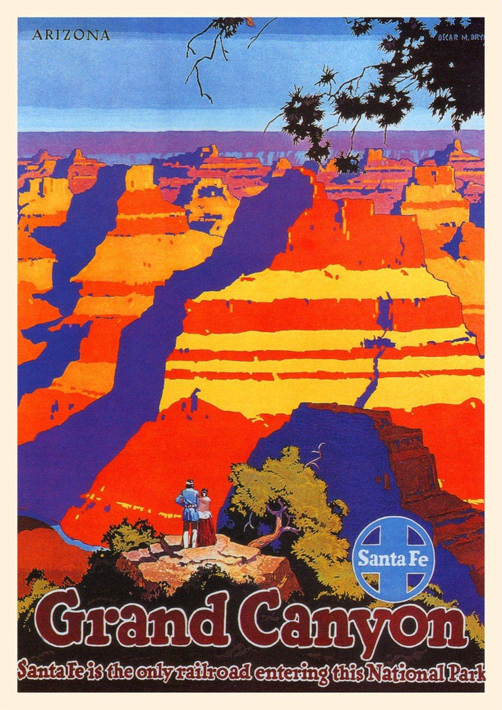 GRAND CANYON POSTER: Vintage Travel Advert, Red Art Print Wall Hanging - The Print Arcade