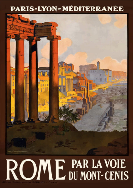 ROME TRAVEL POSTER: Vintage Italian Print - The Print Arcade