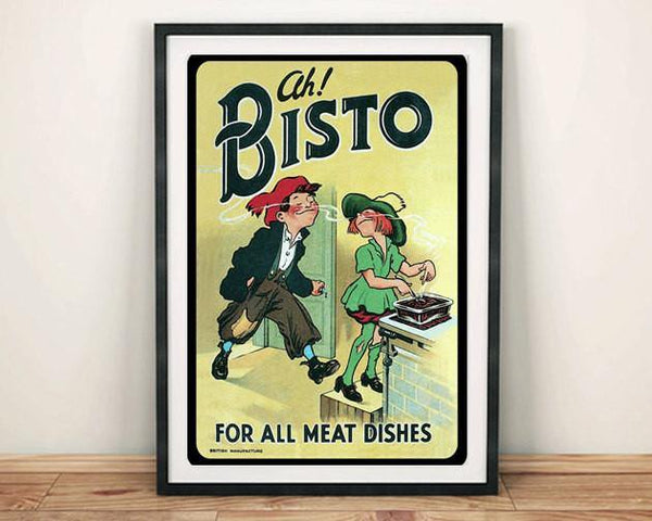 BISTO KIDS POSTER: Vintage Gravy Advert Art Print - The Print Arcade