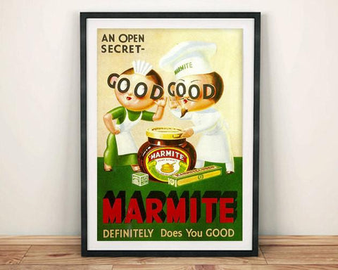 MARMITE POSTER: Vintage Food Advert, Green Art Print - The Print Arcade
