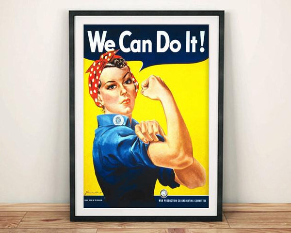 ROSIE RIVETER POSTER: Vintage 'We Can Do It' Feminism Print - The Print Arcade