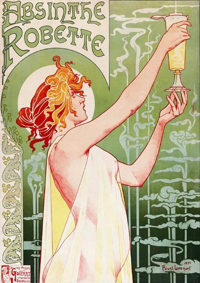 ABSINTHE POSTER: Vintage Green Alcohol Art Print - The Print Arcade