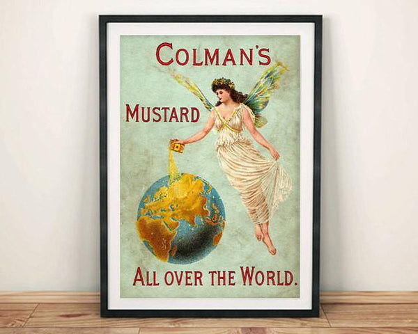 COLMAN'S MUSTARD POSTER: Vintage Food Advert - The Print Arcade