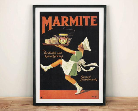 MARMITE GIRL POSTER: Vintage Advert Art Print - The Print Arcade
