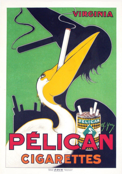 PELICAN CIGARETTES POSTER: Vintage Smoking Advert Art Print - The Print Arcade
