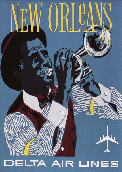 NEW ORLEANS POSTER: Vintage Jazz Print - The Print Arcade