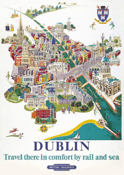 DUBLIN TRAVEL POSTER: Traditional Irish Tourism Print - The Print Arcade