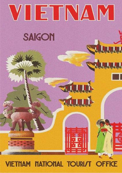 VIETNAM TRAVEL POSTER: Vintage Saigon Advert Print - The Print Arcade