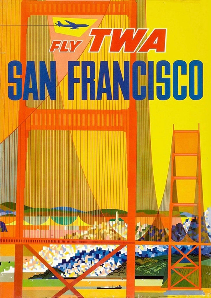 SAN FRANCISCO POSTER: Golden Gate Bridge Print - The Print Arcade