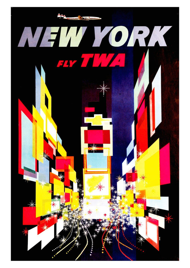NEW YORK POSTER: Vintage American Travel Advert - The Print Arcade