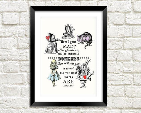 BONKERS PRINT: Vintage Alice in Wonderland Art