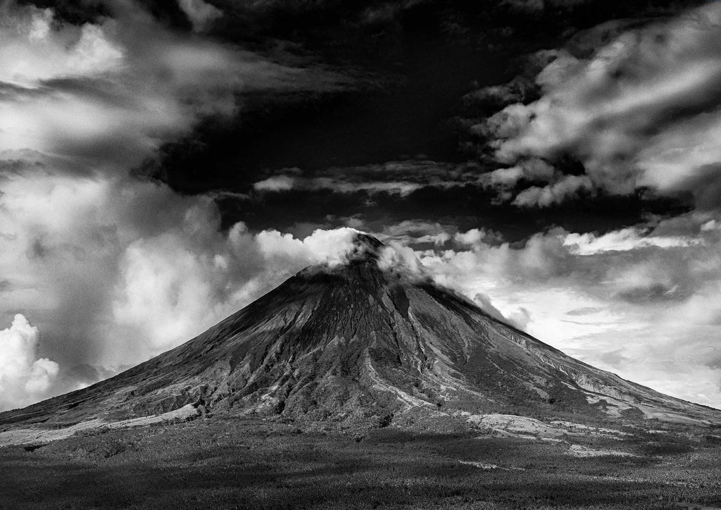 VOLCANO: Black and White Photography Print - The Print Arcade