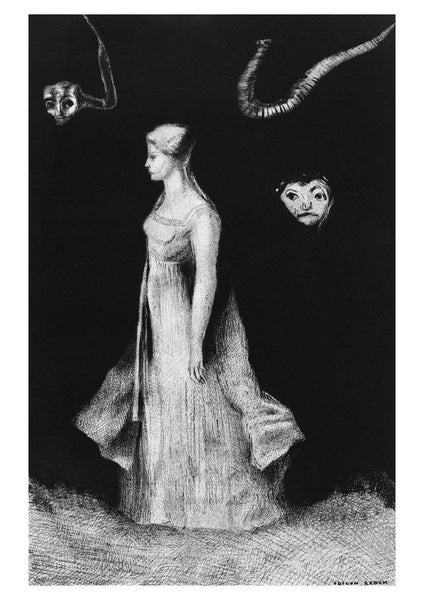 OBSESSION PRINT: Redon's Hantise Ghost Artwork - The Print Arcade