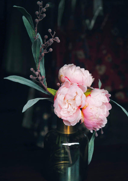 PEONY VASE PRINT: Flower Photo Art