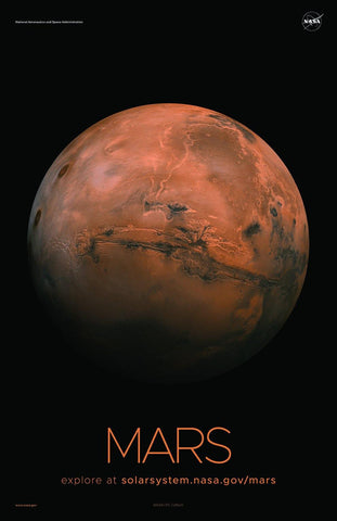 NASA MARS POSTERS: Solar System Series Red Planet Prints - The Print Arcade