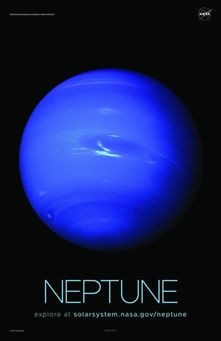 NASA NEPTUNE POSTERS: Solar System Series - The Print Arcade