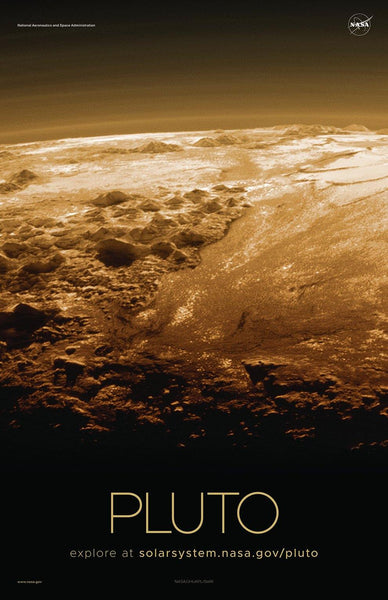 NASA PLUTO POSTERS: Solar System Series - The Print Arcade