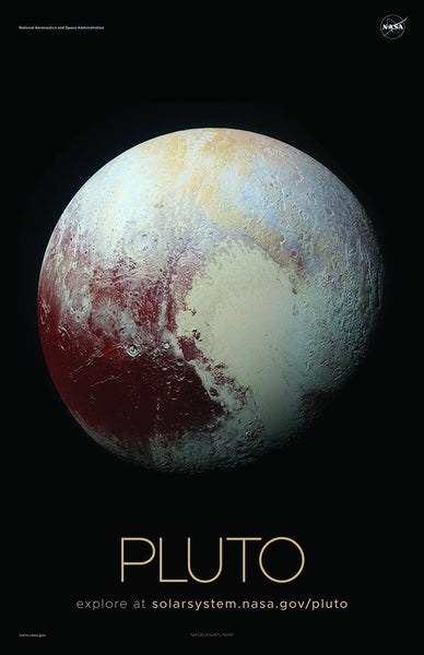 NASA PLUTO POSTERS: Solar System Series
