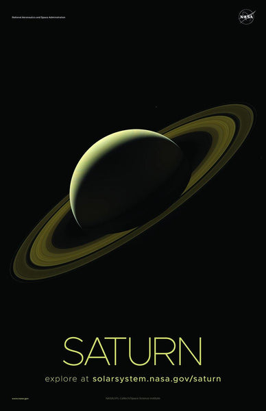 NASA SATURN POSTERS: Solar System Series - The Print Arcade