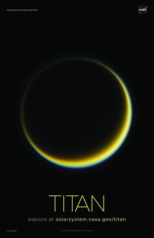 NASA TITAN POSTERS: Solar System Series Prints - The Print Arcade
