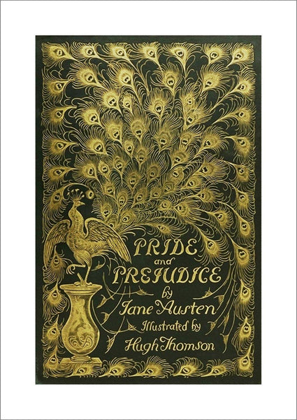 PRIDE AND PREJUDICE POSTER: Vintage Book Cover Art Print - The Print Arcade
