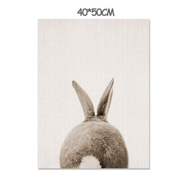 BABY RABBIT PRINTS: Children's Canvas Wall Art - The Print Arcade