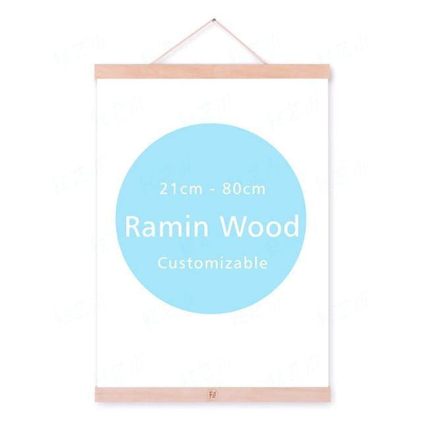 WOODEN POSTER HANGERS: Magnetic Bars to Display Art Prints - The Print Arcade