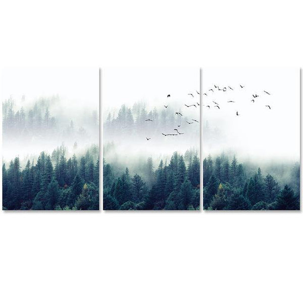 NORDIC FOREST LANDSCAPE: Scandinavian Scenery Canvas Art Prints - The Print Arcade