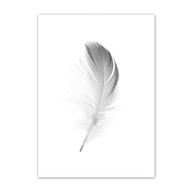 FEATHER ART PRINT: Nordic Style Minimalist Canvas Wall Art - The Print Arcade