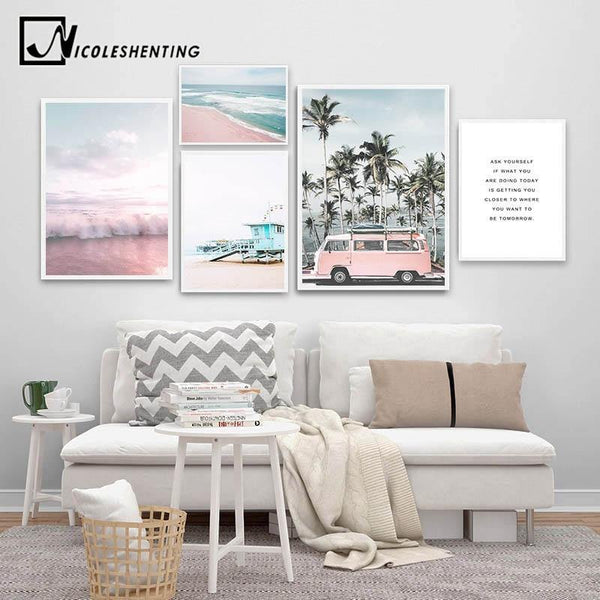 OCEAN LANDSCAPE ART: Seaside Photo Canvas Wall Hangings - The Print Arcade