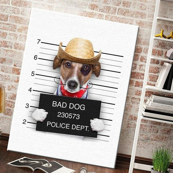DOG PORTRAIT PRINTS: Fun Canine Canvas Wall Art - The Print Arcade