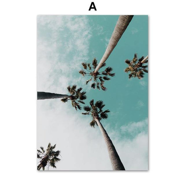 BEACH WALL ART: Palm Trees and Ocean Canvas Prints - The Print Arcade