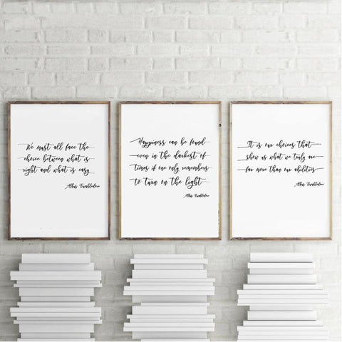 HARRY POTTER PRINTS: Albus Dumbledore Quote Canvas Art Posters - The Print Arcade