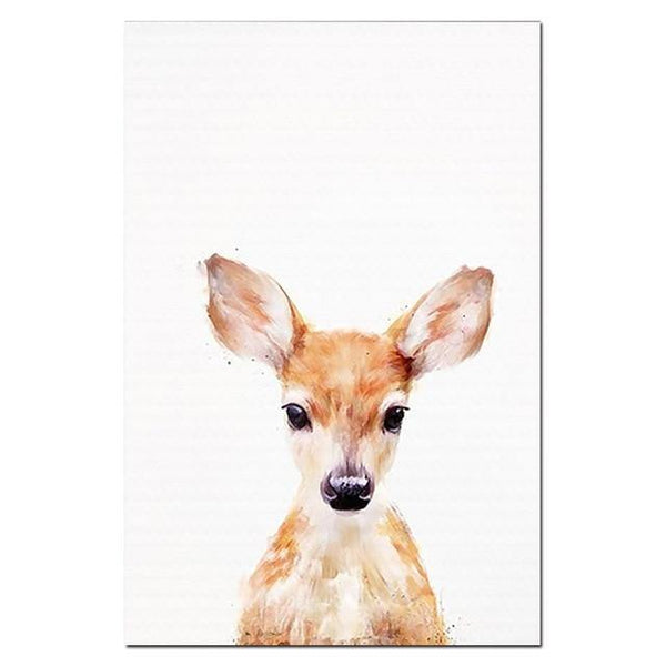 WILD ANIMAL POSTERS: Children's Nursery Wall Art Prints - The Print Arcade
