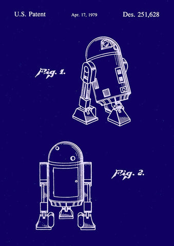 R2-D2 PRINT: Star Wars Patent Design Artwork Poster