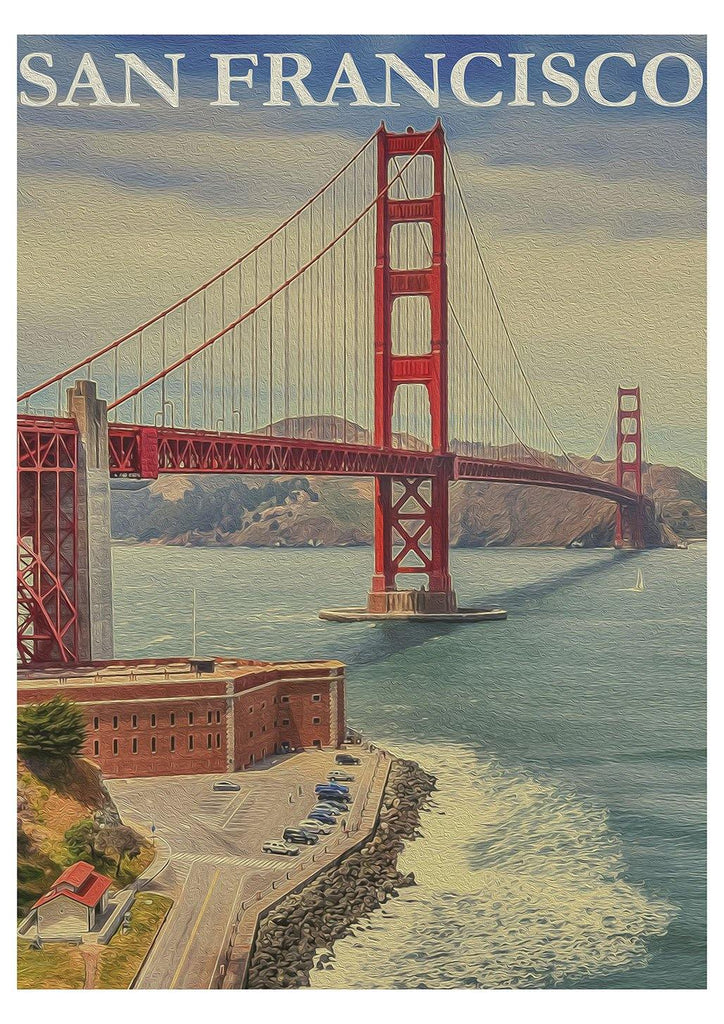 SAN FRANCISCO PRINT: Golden Gate Bridge Poster