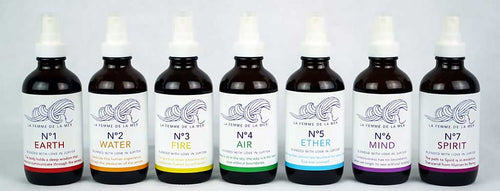 Complete Set of the 7 Chakra Mist Essential Oil Sprays. - La Femme De La Mer - Palm Beach Athletic Wear