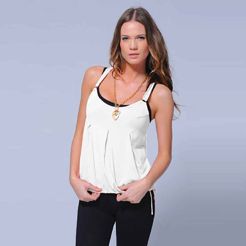 Chloe Open Back Top - Heather Grey