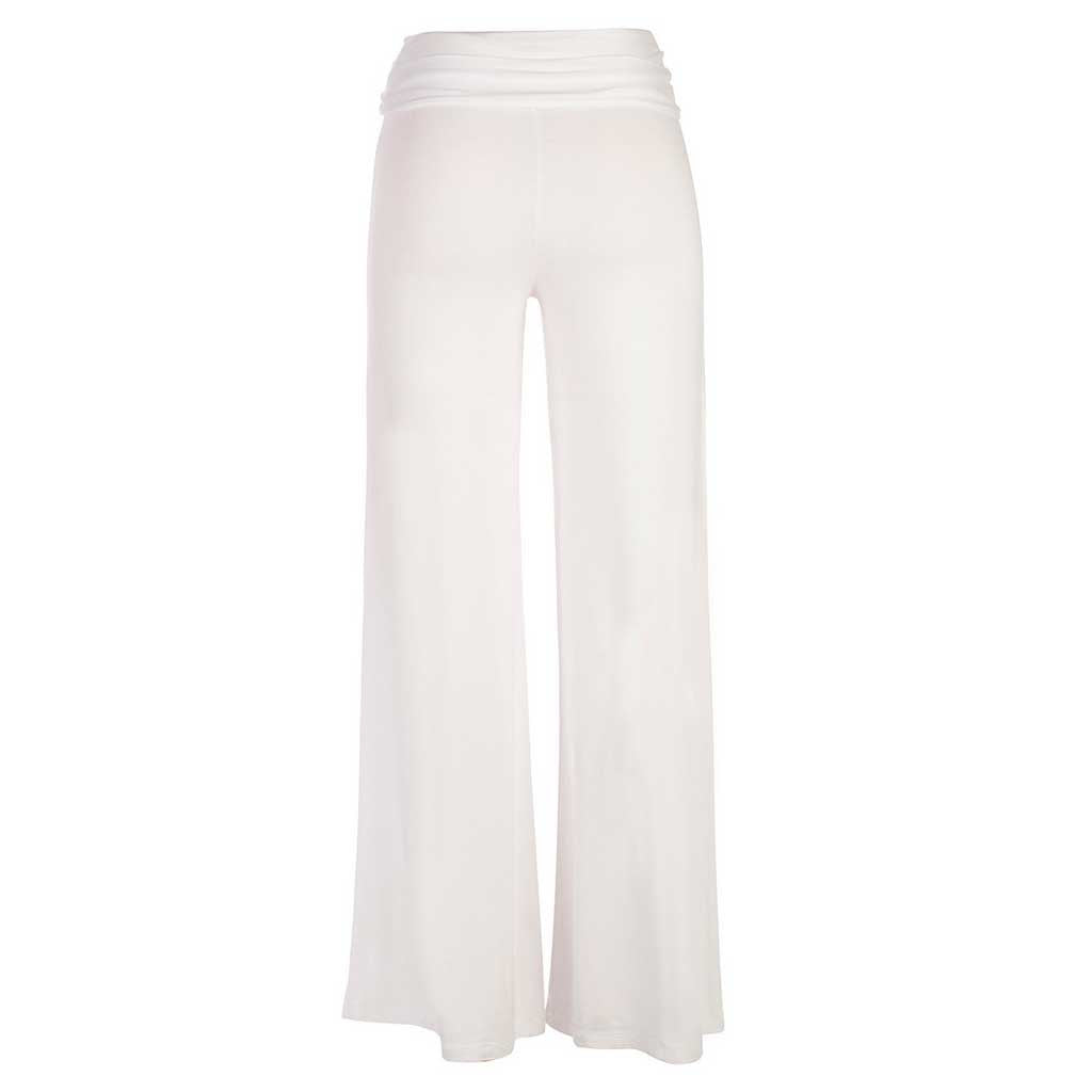 Jholie ballerina pant in white. Back view.