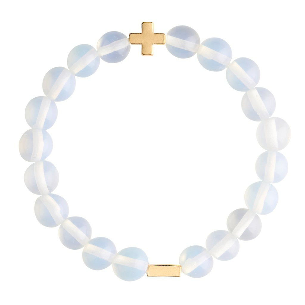 Opal & Gold Elastic Bracelet - Charged - Palm Beach Athletic Wear