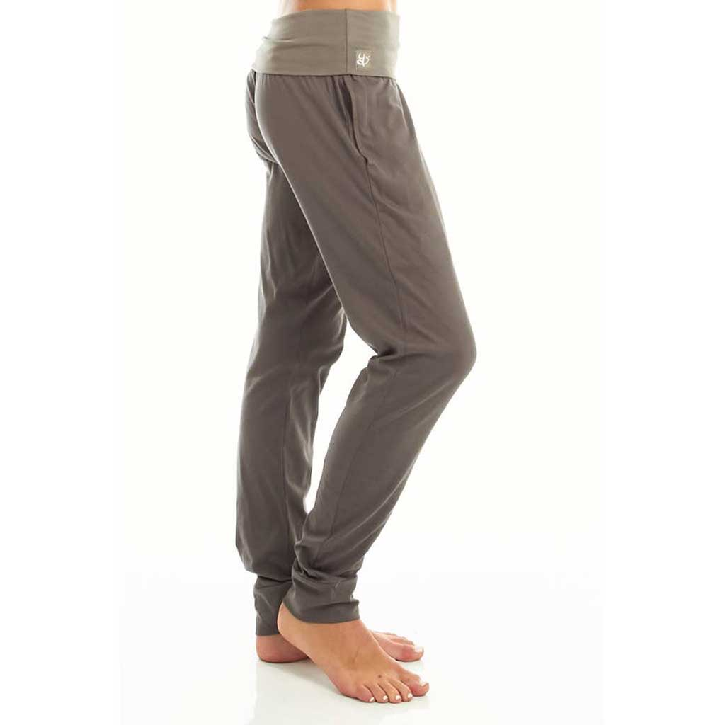 Mudra Drop Crotch Yoga Lounge Pant | Charcoal Grey - Satya Yoga Wear - Palm Beach Athletic Wear